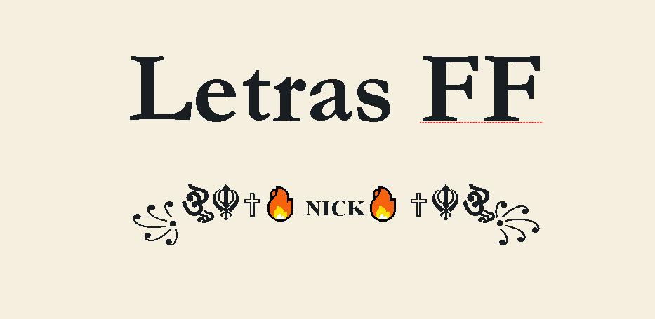 Letras FF