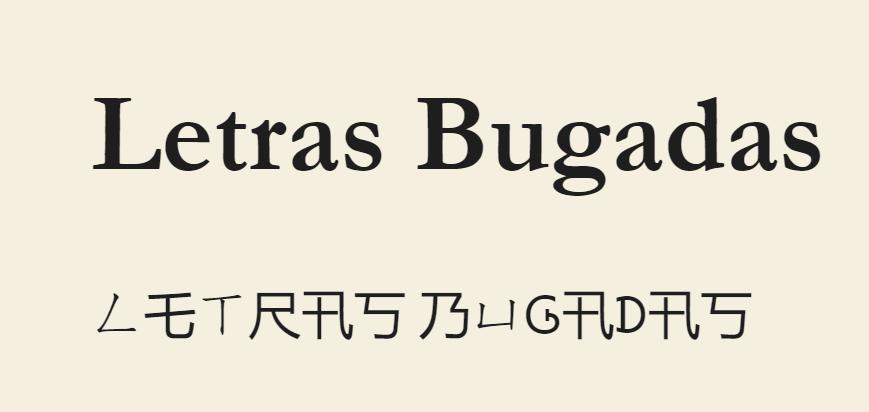 Letras Bugadas