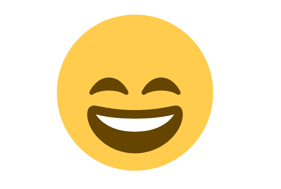 Emoji Rosto sorridente com olhos Sorridentes